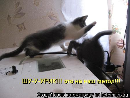 Котоматрица: ШУ-У-УРИК!!! это не наш метод!!!