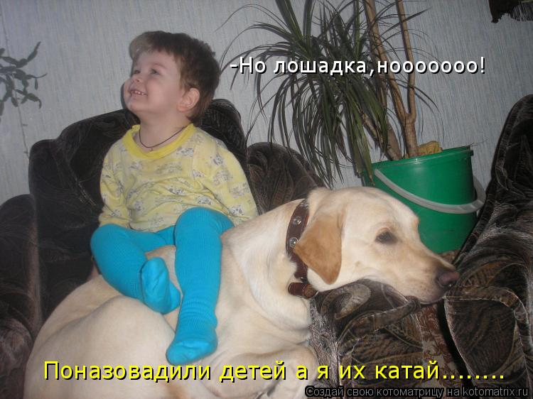Котоматрица: -Но лошадка,нооооооо! Поназовадили детей а я их катай........