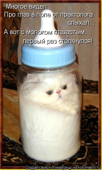 Котоматрица: Многое видел... Про глаз в попе от практолога слыхал... А вот с молоком глазастым, первый раз столкнулся!