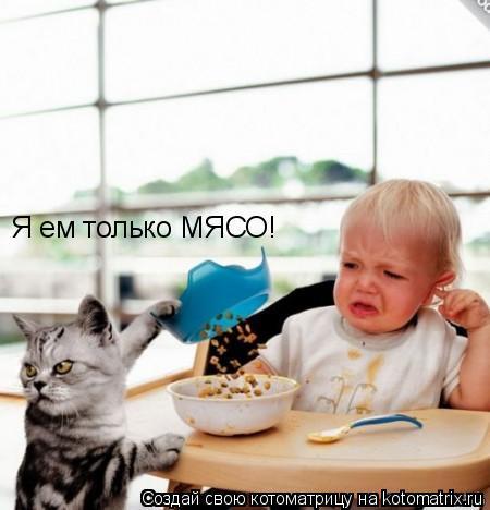 Котоматрица: Я ем только МЯСО!
