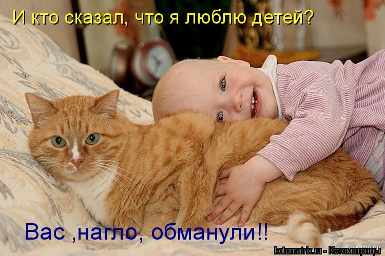 Котоматрица: И кто сказал, что я люблю детей?   Вас ,нагло, обманули!!