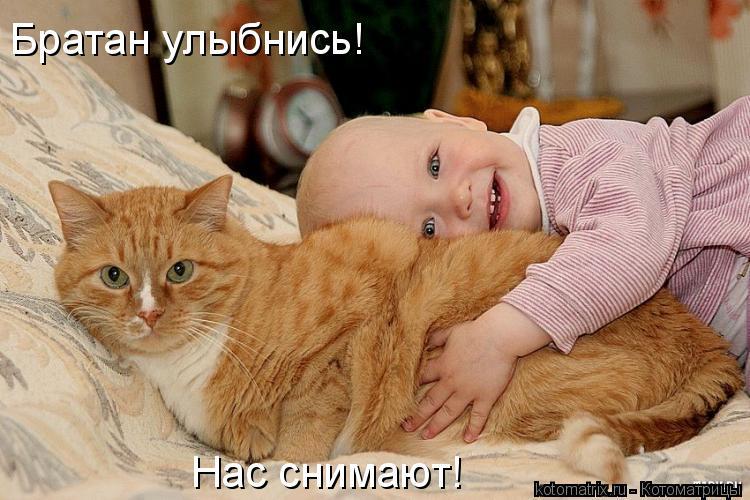 Котоматрица: Братан улыбнись! Нас снимают!