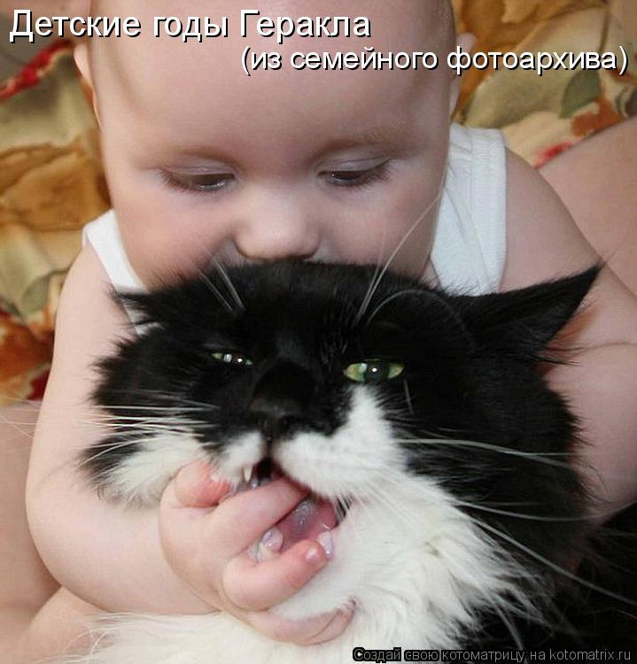 Котоматрица: Детские годы Геракла (из семейного фотоархива)