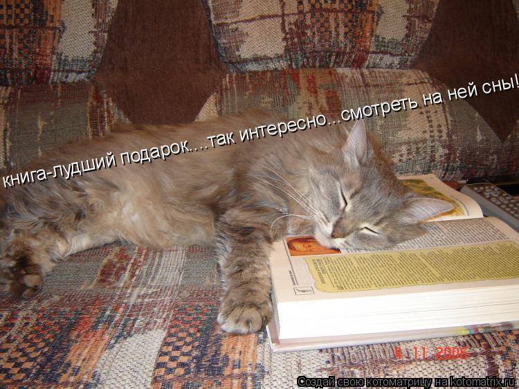 Котоматрица: книга-лудший подарок....так интересно...смотреть на ней сны!!!