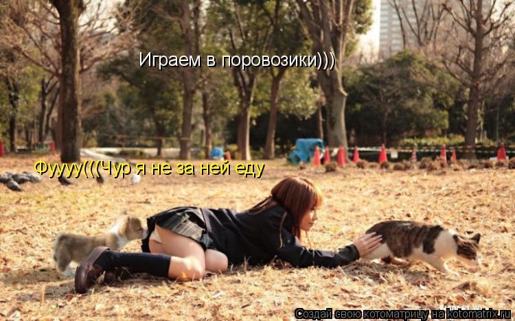 Котоматрица: Играем в поровозики))) Фуууу(((Чур я не за ней еду