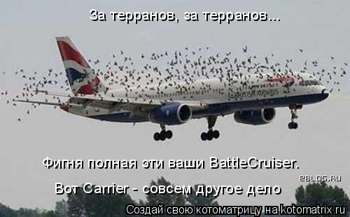 Котоматрица: За терранов, за терранов... Вот Carrier - совсем другое дело Фигня полная эти ваши BattleCruiser.