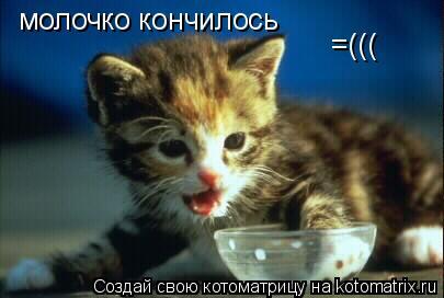 Котоматрица: молочко кончилось =(((