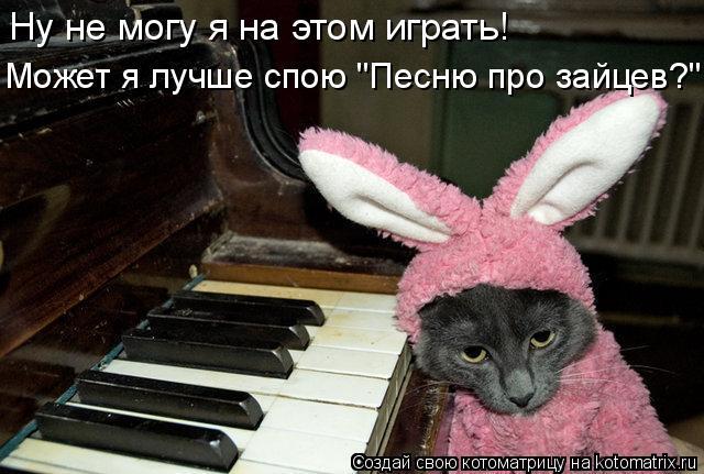 """Котоматрица - Ну не могу я на этом играть! Может я лучше спою """"Песню про зайцев?"""""""