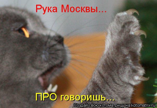 Котоматрица: Рука Москвы... ПРО говоришь...