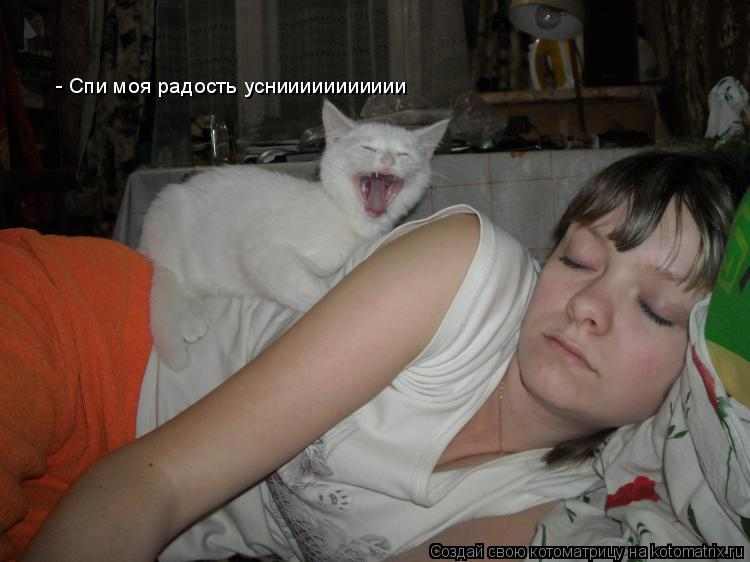 Котоматрица: - Спи моя радость усниииииииииии