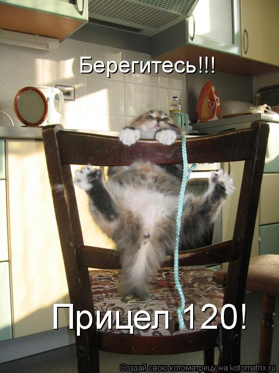 Котоматрица: Берегитесь!!! Прицел 120!