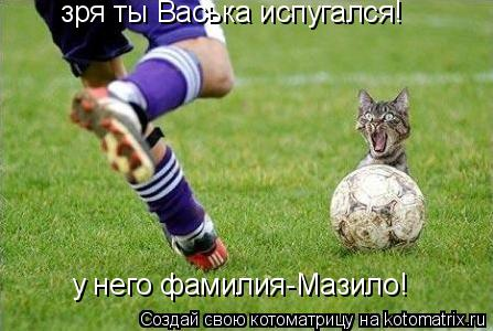 Котоматрица: зря ты Васька испугался! у него фамилия-Мазило!