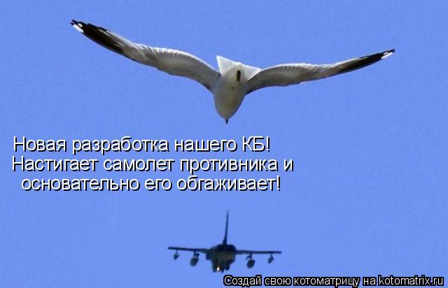 Котоматрица: Новая разработка нашего КБ! Новая разработка нашего КБ! Настигает самолет противника и основательно его обгаживает!