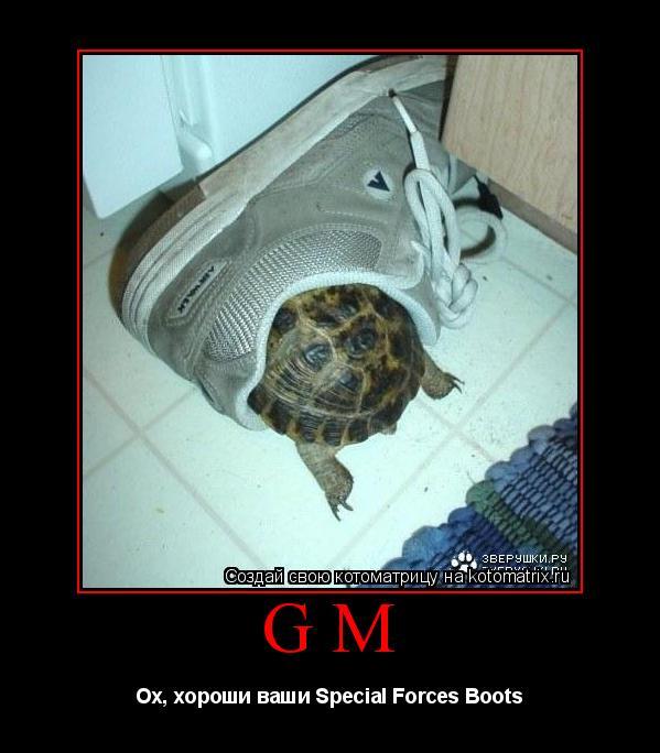 Котоматрица: GM Ох, хороши ваши Special Forces Boots