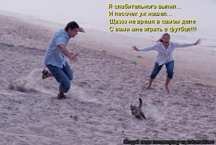 Котоматрица: Я слабительного выпил... И песочек уж нашел... Щаззз не время в самом деле  С вами мне играть в футбол!!!