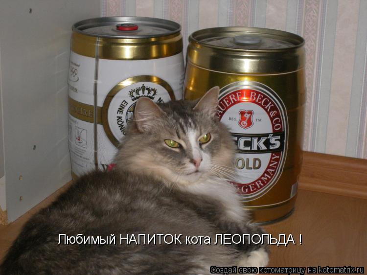 Котоматрица: Любимый НАПИТОК кота ЛЕОПОЛЬДА !