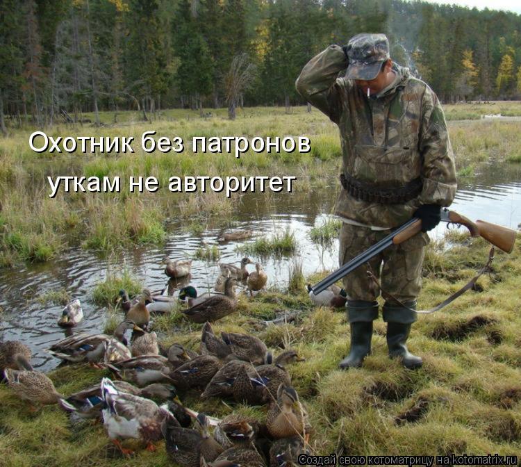Котоматрица: Охотник без патронов уткам не авторитет