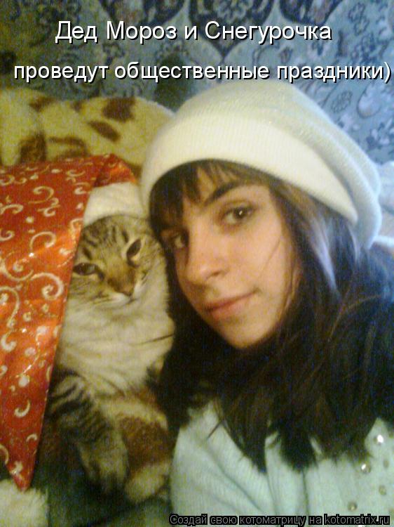 Котоматрица: Дед Мороз и Снегурочка проведут общественные праздники)