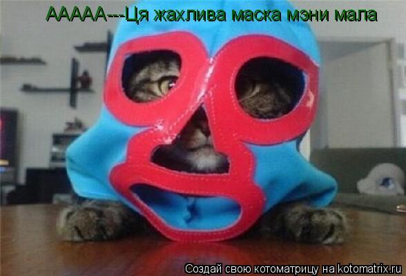Котоматрица: ААААА---Ця жахлива маска мэни мала