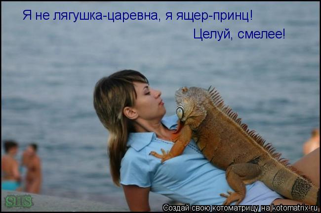 Котоматрица: Я не лягушка-царевна, я ящер-принц! Целуй, смелее!