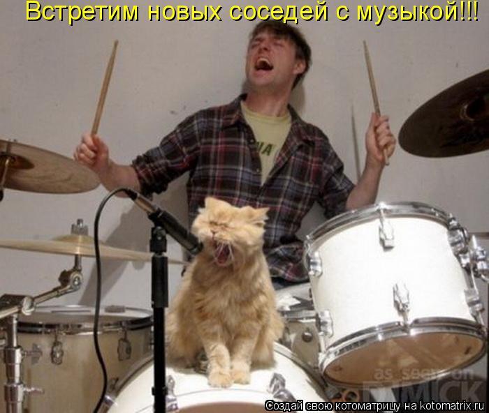 Котоматрица: Встретим новых соседей с музыкой!!!