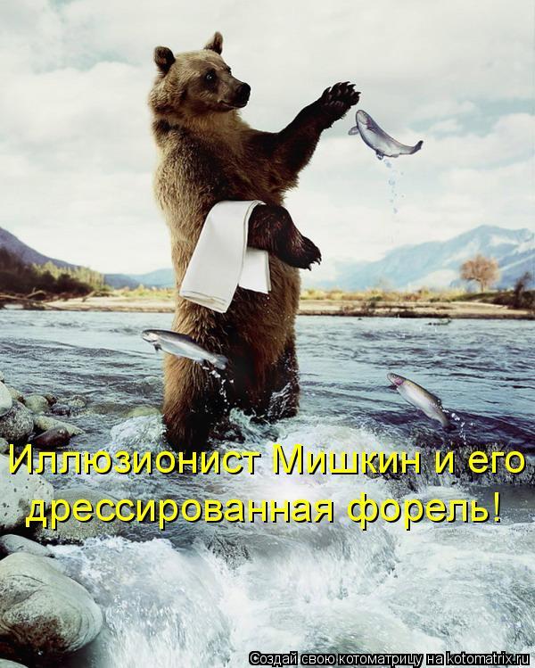 Котоматрица: Иллюзионист Мишкин и его  дрессированная форель!