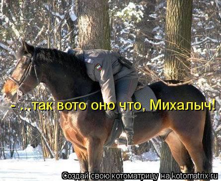 Котоматрица: - ...так вото оно что, Михалыч!