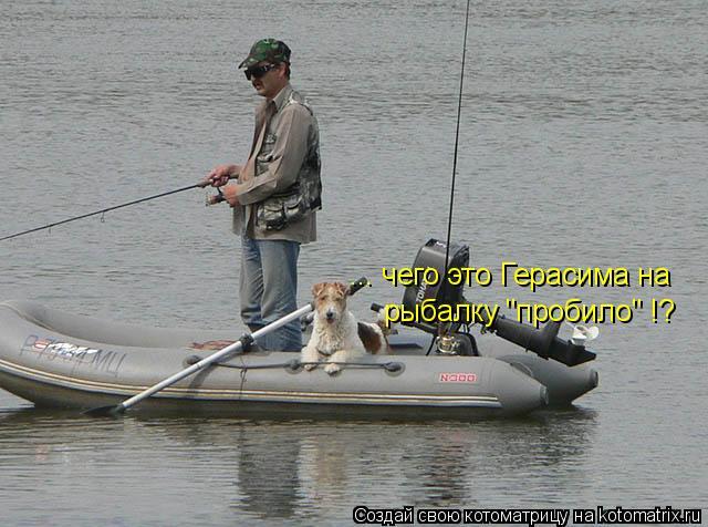 """Котоматрица: ... чего это Герасима на  рыбалку """"пробило"""" !?"""
