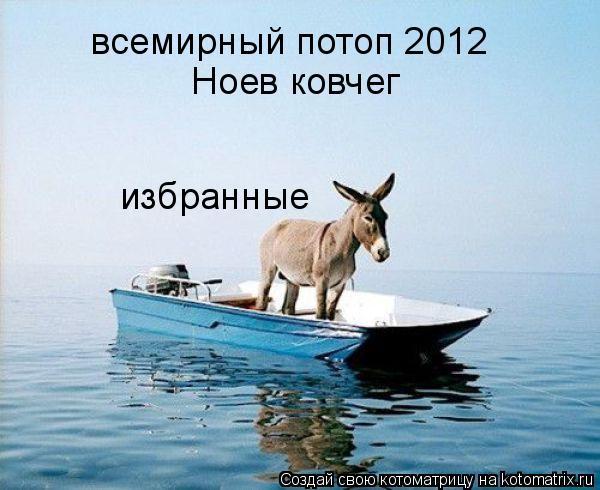 Котоматрица: всемирный потоп 2012 Ноев ковчег избранные