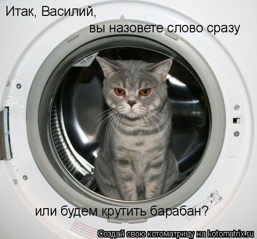 Котоматрица: Итак, Василий, вы назовете слово сразу или будем крутить барабан?