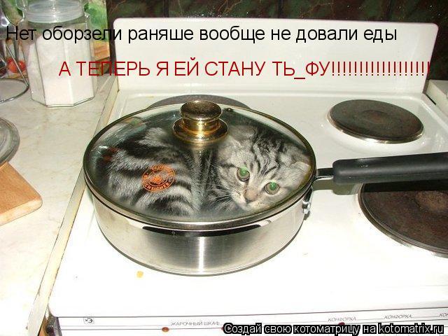 Котоматрица: Нет оборзели раняше вообще не довали еды Нет оборзели раняше вообще не довали еды А ТЕПЕРЬ Я ЕЙ СТАНУ ТЬ_ФУ!!!!!!!!!!!!!!!!!!