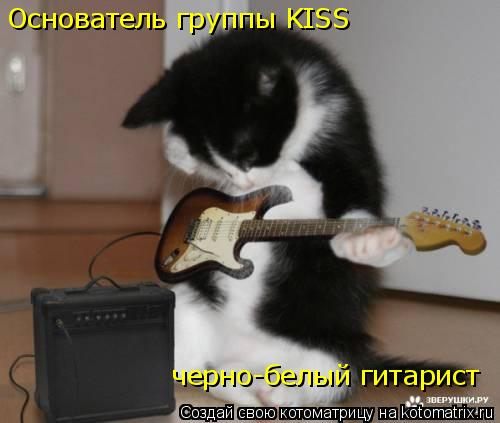 Котоматрица: Основатель группы KISS черно-белый гитарист