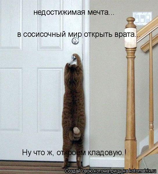 Котоматрица: недостижимая мечта... в сосисочный мир открыть врата... Ну что ж, откроем кладовую.!