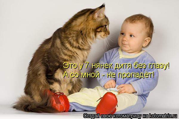 Котоматрица: Это у 7 нянек дитя без глазу! А со мной - не пропадёт!