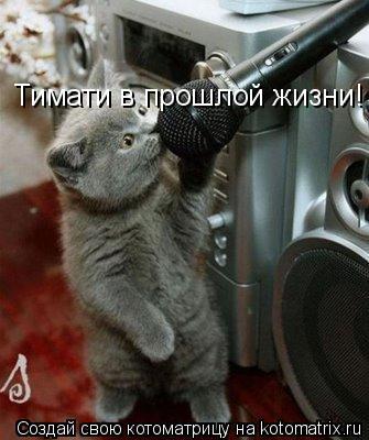 Котоматрица: Тимати в прошлой жизни!
