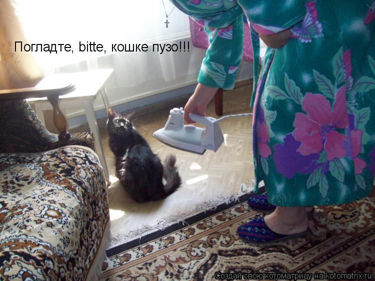 Котоматрица: Погладте, bitte, кошке пузо!!!