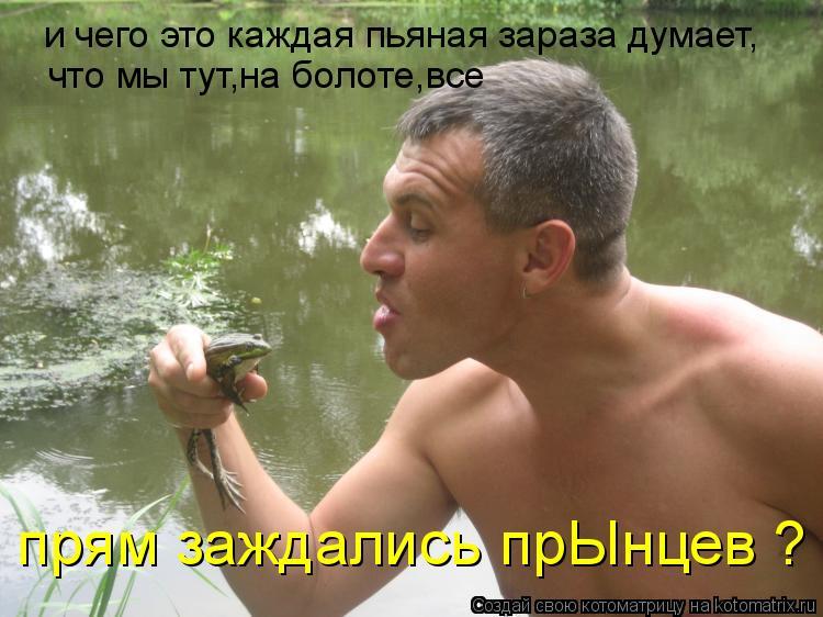 Котоматрица: и чего это каждая пьяная зараза думает, что мы тут,на болоте,все  прям заждались прЫнцев ?