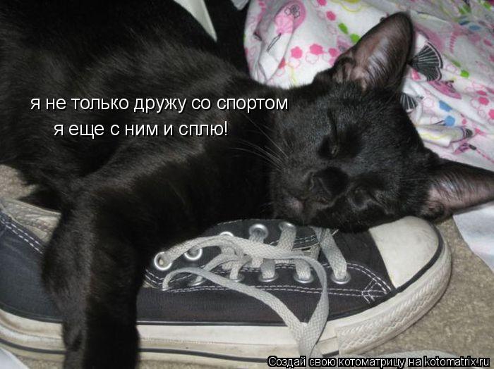 Котоматрица: я не только дружу со спортом я еще с ним и сплю!