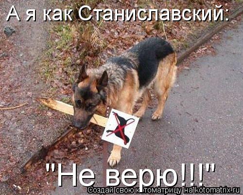 """Котоматрица: А я как Станиславский:  """"Не верю!!!"""""""