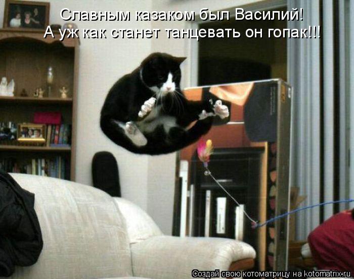 Славным казаком был Василий! А уж как станет танцевать он гопак!!!