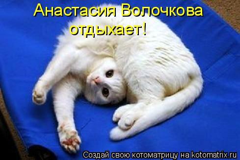 Котоматрица: отдыхает! Анастасия Волочкова