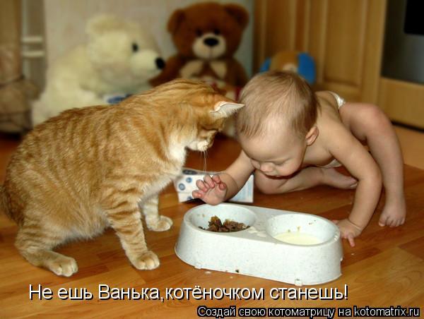 Котоматрица: Не ешь Ванька,котёночком станешь!