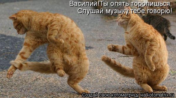 Слушай музыку,тебе говорю! Василий!Ты опять торопишься.