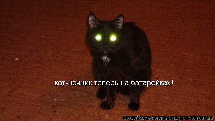 Котоматрица: кот-ночник теперь на батарейках!