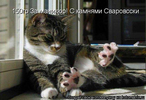 Котоматрица: 150гр За маникюр! С камнями Сваровсски