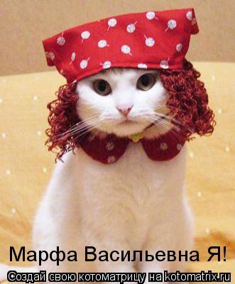 Котоматрица: Марфа Васильевна Я!