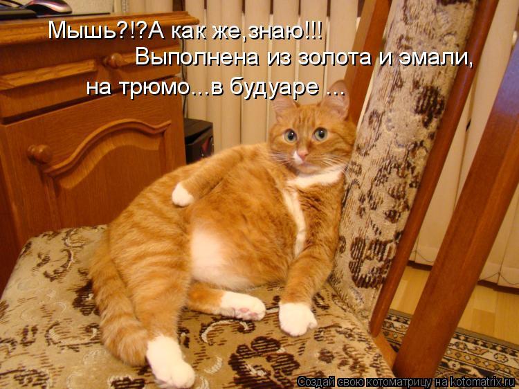 Котоматрица: Мышь?!?А как же,знаю!!! Выполнена из золота и эмали, на трюмо...в будуаре ...