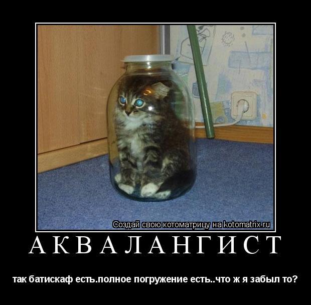 Котоматрица: аквалангист так батискаф есть.полное погружение есть..что ж я забыл то?