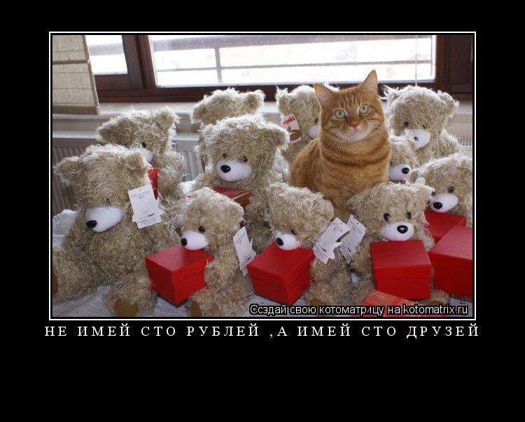 Котоматрица: не имей сто рублей ,а имей сто друзей