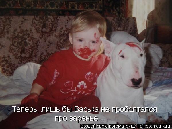 Котоматрица: - Теперь, лишь бы Васька не проболтался про варенье....